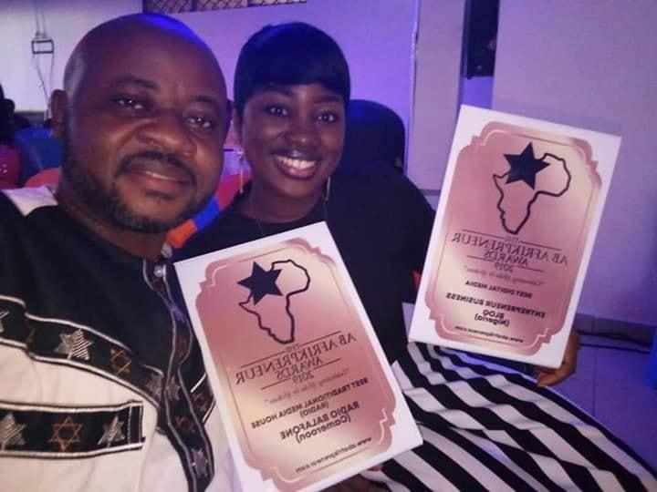 Tanyi Melvis Bechemnyo, popular Cameroon blogger receiving award for Entrepreneur Business Blog