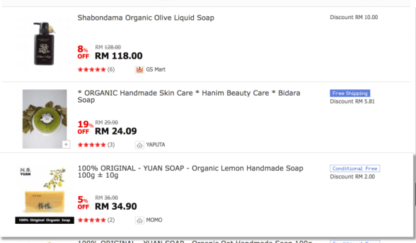 top3 results organic soap