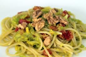 Spaguettis en salsa de palta (Aguacate)