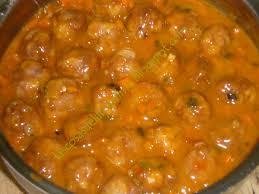 Albóndigas en salsa de zanahorias
