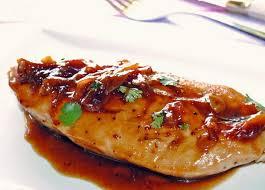 Pechugas doradas al vapor con salsa agridulce