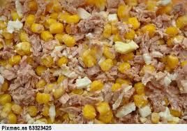 ensalada de huevos y maiz