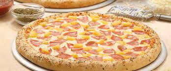 Pizza de jamón y piña