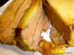 Terrina de salmón, foie y manzana