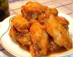 Alas de pollo con salsa agridulce picante