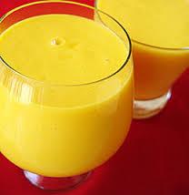 Crema batida de mango