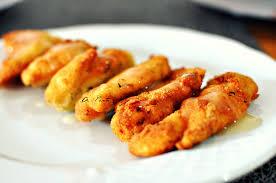 Palitos de pollo al pomelo amarillo