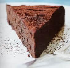 Tarta de chocolate amargo
