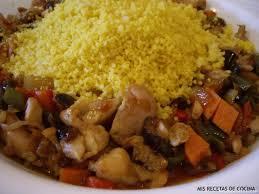 Cuscus de pollo y verduras