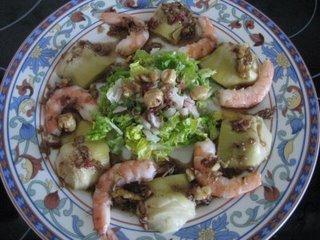 Ensalada de alcachofas y almendras