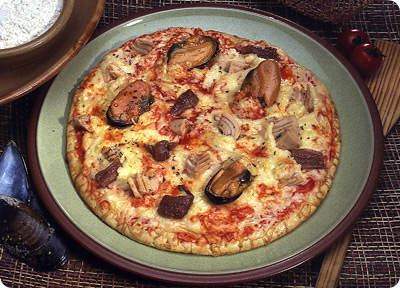 Pizza del norte (pizza de marisco)