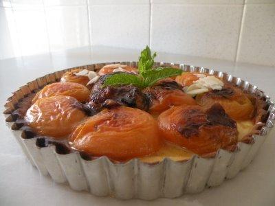 Tartaletas de albaricoques y almendras