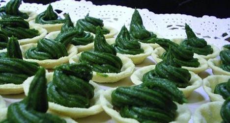 Canapés de espinacas