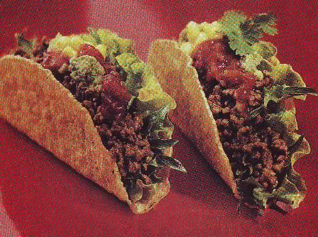 Tacos de carne de ternera picada