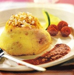 Flanecillos de queso y frambuesas