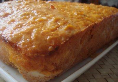 Budín de pescado con mayonesa de naranja