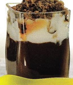 Chocolate caliente con granizado de café