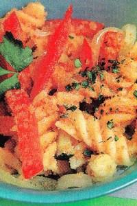 Lacitos de pasta con verduras