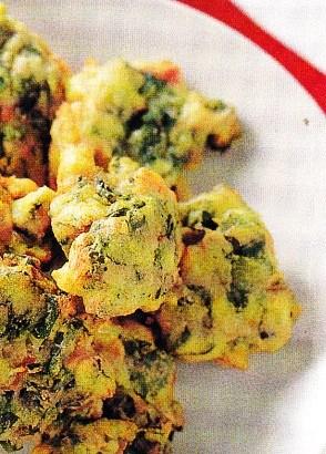 Buñuelos de jamón y espinacas