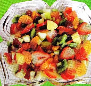 Macedonia de frutas naturales