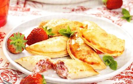 Empanadillas dulces de fresas