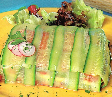 Terrina con calabacines y anchoas