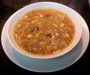 Sopa de avellanas