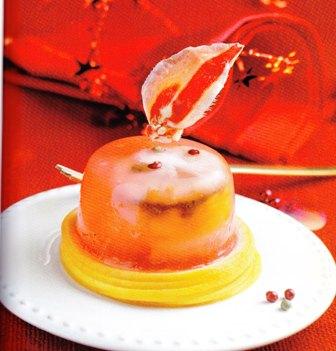 Medallones de langosta a la gelatina de pomelo