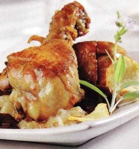 Muslos de pollo a la salsa de soja