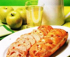 pan de sidra con manzanas