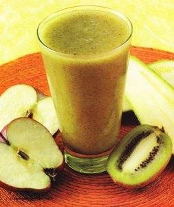 bebida energetizante con manzana