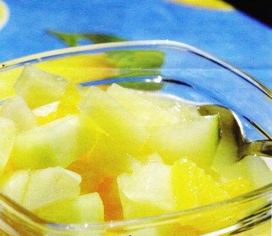Frutas al jengibre