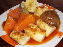 Sancocho canario con mojo y batata