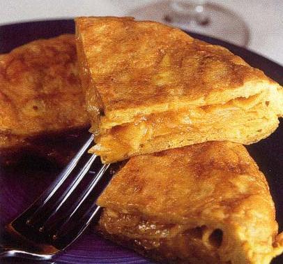 Tortilla con patatas chip