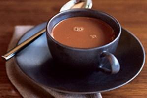 café chocolate con almendras