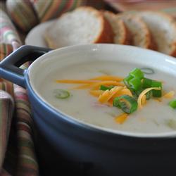 Sopa de patatas y jamón