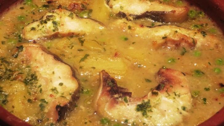 Cazuela de congrio con patatas