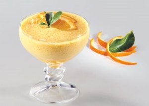 Mousse de miel y naranja