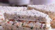 Sándwiches de salmón con manzana