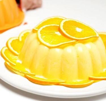 Bavarois de pescado y naranja