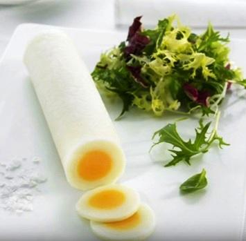 Rulo de huevo cocido
