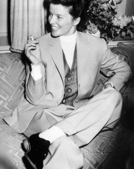 Katherine Hepburn, una firme defensora del estilo masculino.
