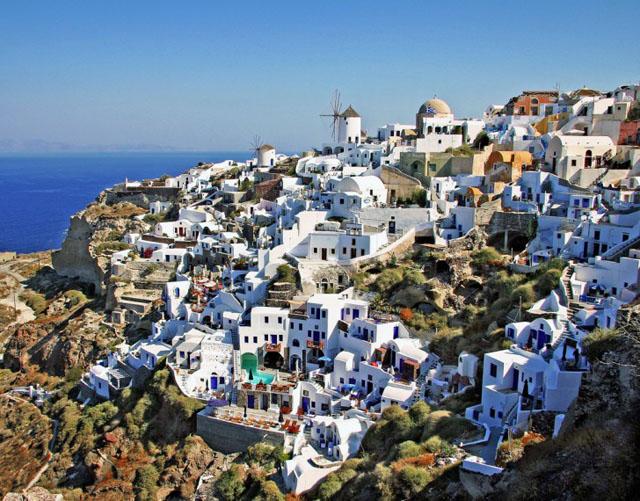 Casas escalonadas típicas de la isla, foto de Georgio R.