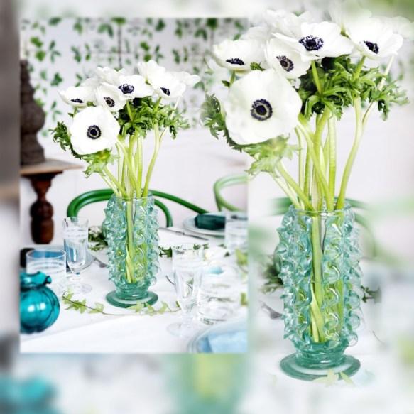 Comedor en tonos verdes- Flores - Flowers by La Musa Decoracion