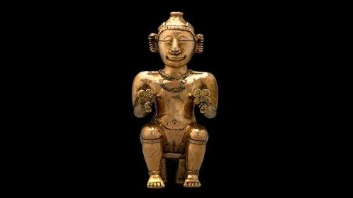 Poporo de figura femenina sentada © Museo Britanico