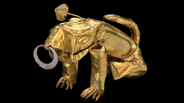 Poporo con forma de Jaguar © Museo del Oro - Banco de la Republica, Colombia.