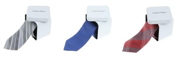 Corbatas Calvin Klein.