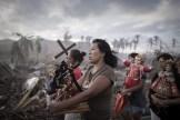 Ganador en la categoría de Noticias de Actualidad fue el francés Phillipe Lopez, retratando a supervivientes del tifón Haiyán en Filipinas