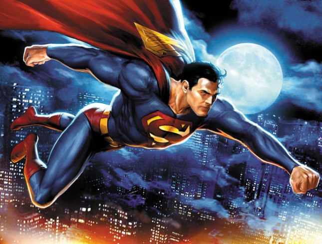 Superman_in_flight_by_JPRart