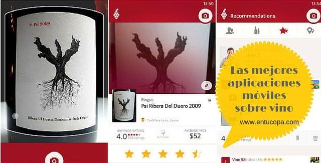 Las mejores aplicaciones móviles sobre vino